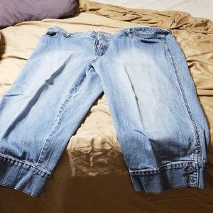 Faded Glory 22W plus stretch light denim jeans